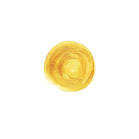 gold textured background: Abstract hand painted round gold textured background Stock Photo