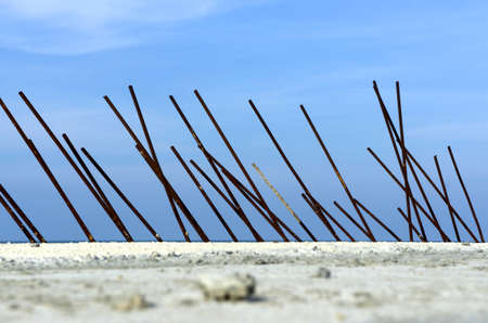 reinforcement: Rusty reinforcement rods