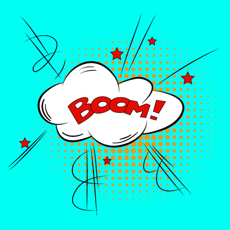 Comic Speech Bubble BOOM  Vector