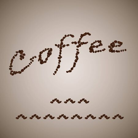caffe: Cup of Coffee by Coffee Corns Brown Illustration