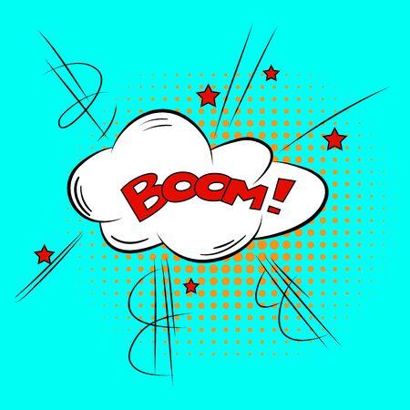 zonk: Comic Speech Bubble BOOM Cartoon Style Vector