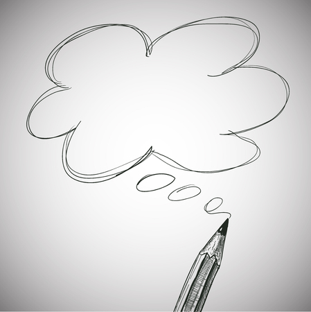 text box: Pencil Hand Draw with Text Box for Your