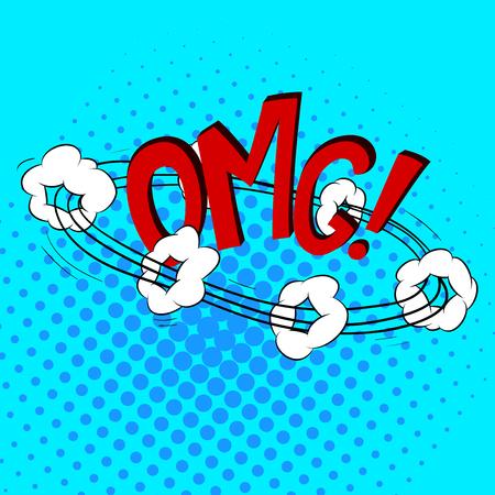 zonk: Comics Speech bubble Set CArtoon Style Vector Illustration
