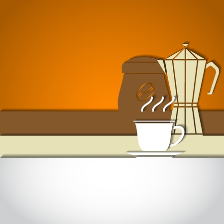 coffe beans: Vector Illustration of Coffee Outline concept for Design, Website, Background, Banner. Coffe beans Element Template for you Restaurant Menu or Infographic. Hot cup fro pot.