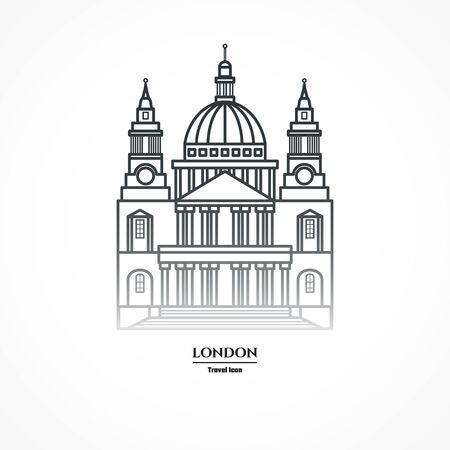 Illustration of St Pauls Cathedral Icon Outline