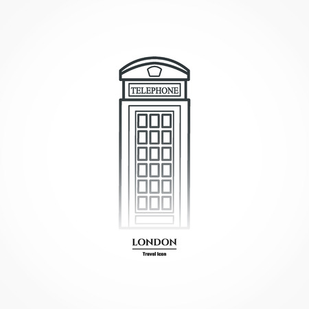 phonebooth: Illustration of phone booth Icon Outline