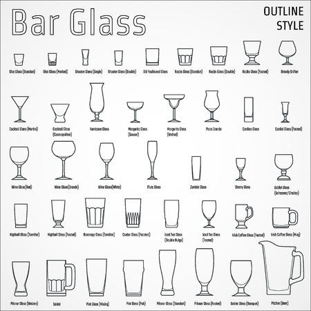 Illustration of Bar Glasses  イラスト・ベクター素材