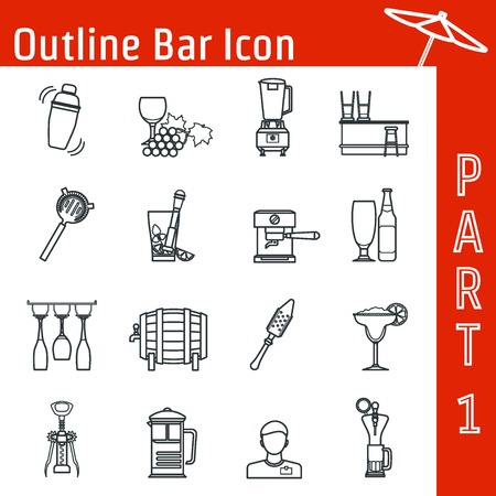 Illustration of Bar Outline Icon