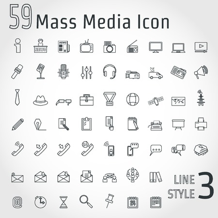 accreditation: Illustration of Journalism Concept Outline Icon