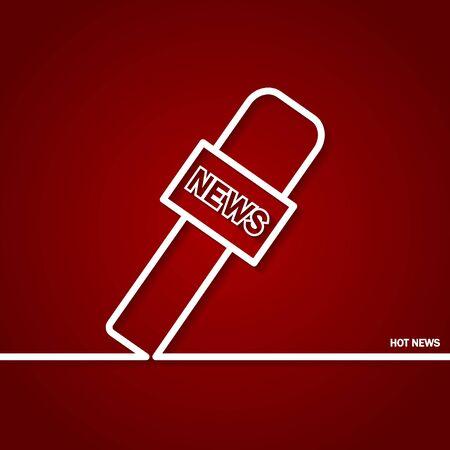 hot news: Illustration of Hot News Outline for Design