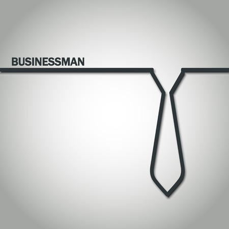 suit and tie: Illustration of Outline Tie for Design