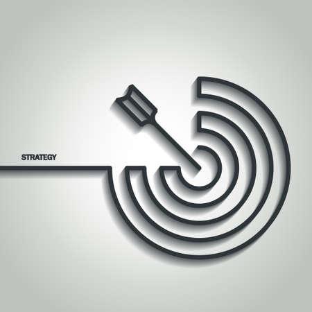 Illustration of Outline Strategy Concept for Design Illustration