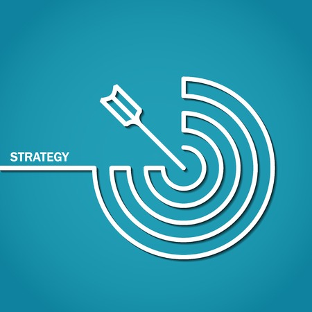 strategies: Illustration of Outline Strategy Concept for Design Stock Photo