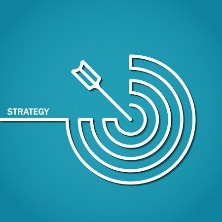 esquema: Ilustraci�n del perfil de la estrategia del concepto por Dise�o Foto de archivo