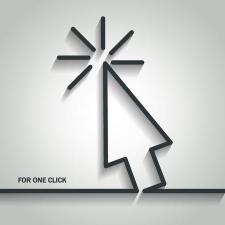 Illustration of Cursor Arrow Outline for Design Illustration