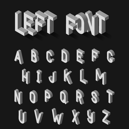 adverts: Vector Illustration of 3D Alphabet for Design, Website, Background, Banner. White Isolated Letters. Element Template for Your frase, text, adverts.