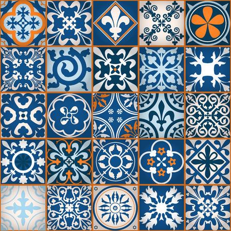 Ilustración del vector de Marruecos Azulejos Modelo inconsútil de diseño, Web site, fondo, bandera. Elemento de papel tapiz o textil. Plantilla Edad Media Ornamento Textura
