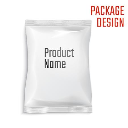 Vector Illustration of Package snack bag for Design, Website, Background, Banner. Pack Element. Mock up Template for your branding or product
