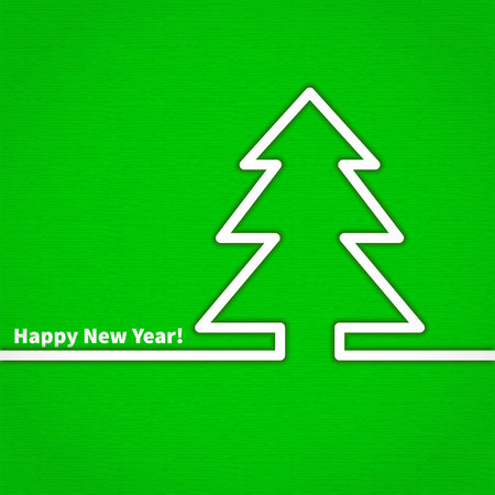 happy new year banner: Flat Vector Illustration Happy New Year Xmas Tree gifts Balls Card for Design, Website, Background Banner. Merry Christmas Cartoon Funny Template Illustration