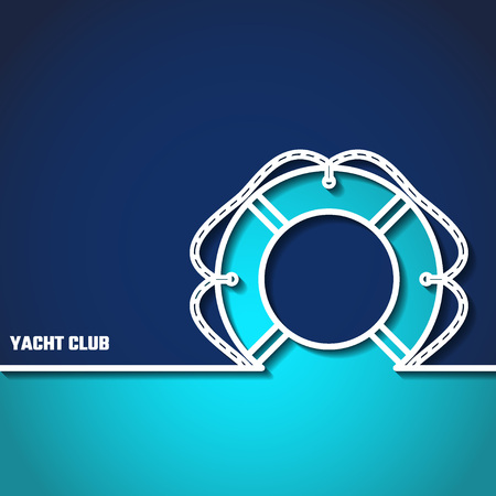 Vector Illustration of Yacht Club Outline for Design, Website, Background, Banner. Sea and Ocean Travel Element. Sport and Holiday Template