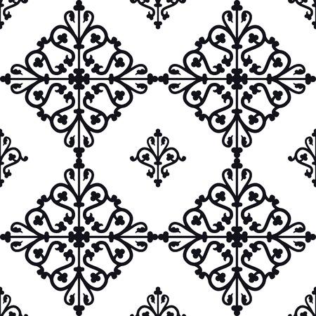 edad media: Ilustraci�n del vector de Marruecos Azulejos Modelo incons�til de dise�o, Web site, fondo, bandera. Elemento de papel tapiz o textil. Plantilla Edad Media Ornamento Textura