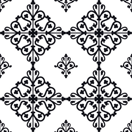 Vector Illustration of Moroccan tiles Seamless Pattern for Design, Website, Background, Banner. Element for Wallpaper or Textile. Middle Ages Ornament Texture Template