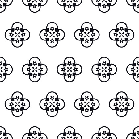 middle ages: Vector Illustration of Moroccan tiles Seamless Pattern for Design, Website, Background, Banner. Element for Wallpaper or Textile. Middle Ages Ornament Texture Template