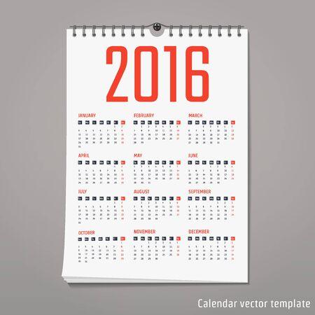 calender design: Vector Illustration of flat calendar for Design, Website, Background, Banner. Minimalism Template for your company brand Calender Illustration