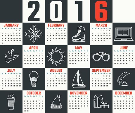 calender icon: Vector Illustration of flat calendar for Design, Website, Background, Banner. Icon of month Template for your company brand Calender