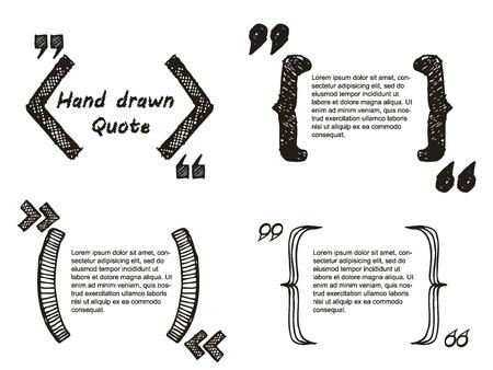 Illustrazione vettoriale di Quote disegnata a mano per la progettazione, sito web, sfondo, banner. Nota bolla simbolo Element Template Archivio Fotografico - 48124182