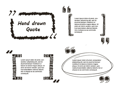 quote: Vector Illustration of Quote hand drawn for Design, Website, Background, Banner. Note bubble symbol Element Template