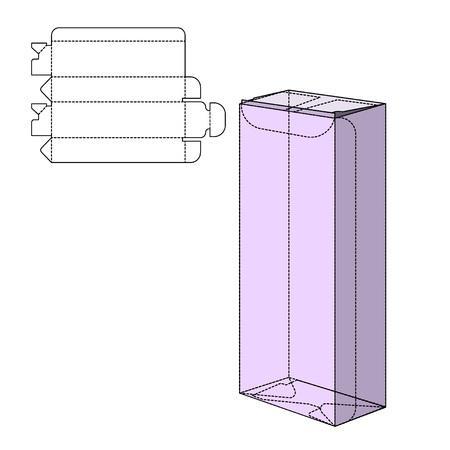 Illustration of Cut Gift craft Box for Design
