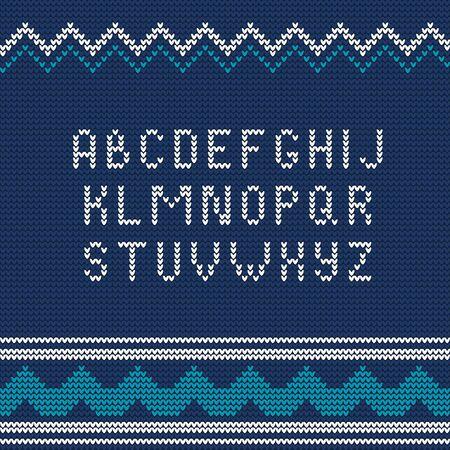 sueter: Ilustración de Navidad de punto suéter feo estilo de fuente para el diseño