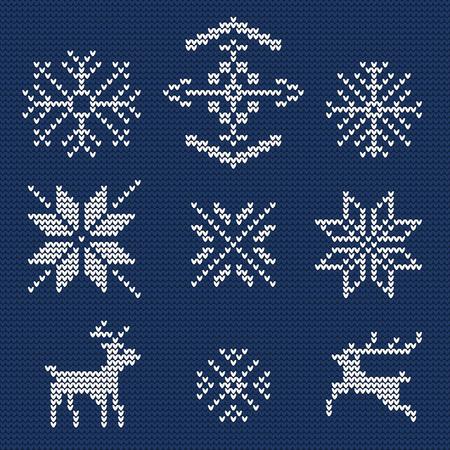 schneeflocke: Illustration der hässliche Strickjacke nahtlose Muster für Design-