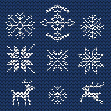deer: Illustration of Ugly sweater seamless Pattern for Design