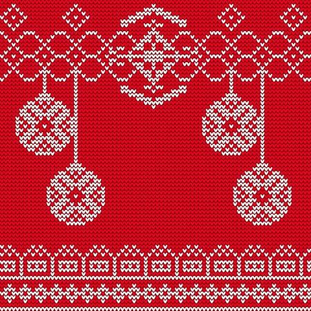 the ugly: Illustration of Ugly sweater seamless Pattern for Design