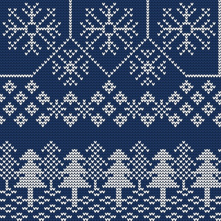 醜いセーターのイラスト デザインのシームレス パターン