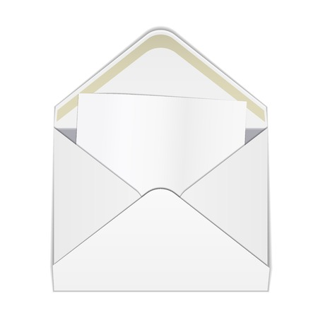 die line: Vector Illustration of Envelope paper or craft Box for Design, Website, Background, Banner. Folding package Template. Fold Post pack with die line for your corporate brand on it