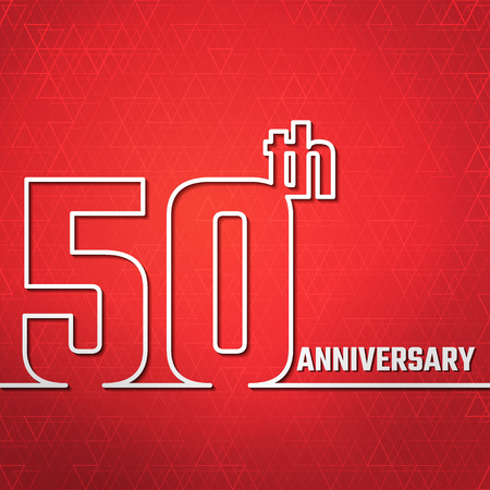50 years jubilee: Vector Illustration of Anniversary 50th Outline for Design, Website, Background, Banner. Jubilee silhouette Element Template for greeting card Illustration