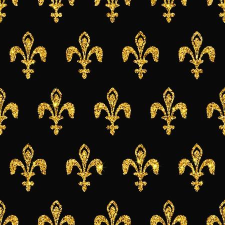 edad media: Ilustración de oro de Marruecos azulejos Patrón sin fisuras para el diseño, Web site, fondo, bandera. Elemento para papel tapiz o textil. Plantilla de la chispa Edad Media ornamento textura de lujo