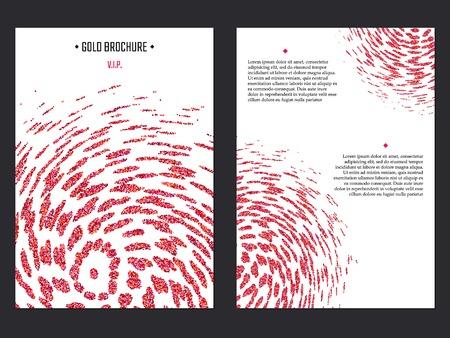 ruby: Vector Illustration of Ruby Brochure for Design, Website, Background, Banner. Pink Sparkle dust Element Template for premium invitation for wedding or Party. Red Shine Flyer Illustration