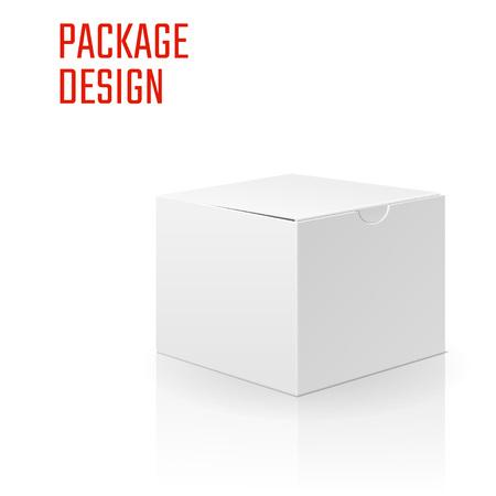 Illustration Vecteur de cadeau artisanat boîte isolé pour la conception, le site, fond, bannière. Pliage package Template. Pliez Pack maquette pour votre marque sur elle Vecteurs