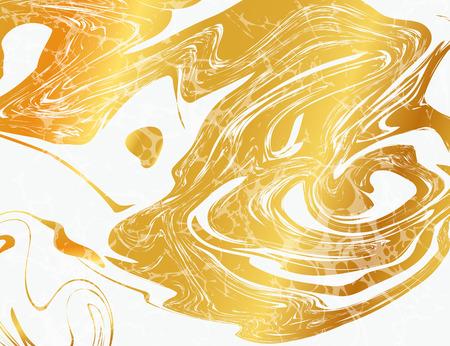 Ilustración del vector de Marbling la textura por diseño, Web site, fondo, bandera. Plantilla de tinta líquido elemento. Patrón de la acuarela. Oro y Negro