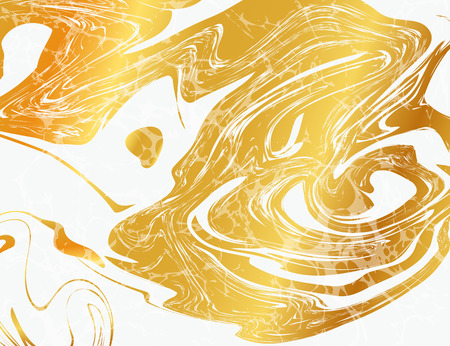 Vektor-Abbildung der Marmorierung Textur für Design, Website, Hintergrund, Banner. Tinte flüssig Element Template. Aquarell-Muster. Gold und Schwarz Standard-Bild - 53292230