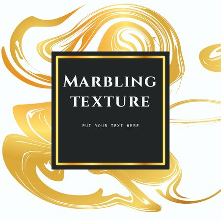 liquid gold: Vector Illustration of Marbling Texture  for Design, Website, Background, Banner. Ink Liquid Element Template. Watercolor Pattern. Gold, white and Black Greeting Card Illustration