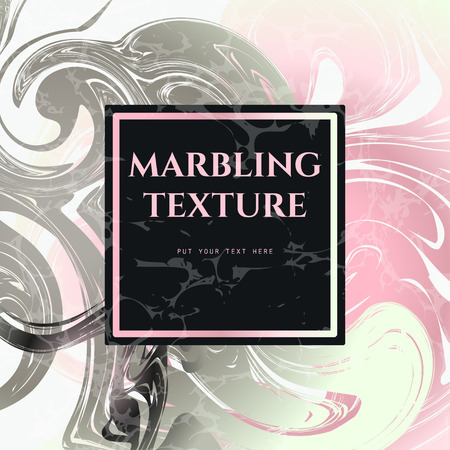 marbling: Vector Illustration of Marbling Texture  for Design, Website, Background, Banner. Ink Liquid Element Template. Watercolor Pattern. Pink, White, Silver, Grey greeting card Illustration