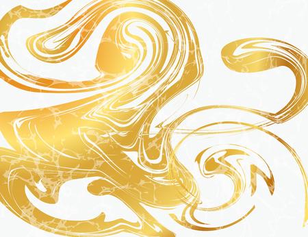 Illustrazione vettoriale di marmorizzazione texture per il design, sito web, sfondo, banner. Inchiostro Template elemento liquido. Modello Acquerello. Oro ed il nero Archivio Fotografico - 53293288