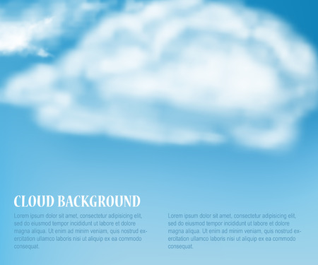 heaven: Vector Illustration of Heaven with Soft Cloud for Design, Website, Background, Banner. Weather Element Template for Summer concept