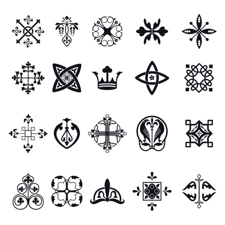 벡터 일러스트 레이 션 디자인, 웹 사이트, 배경, 배너 모로코 타일의 서명. 벽지, 세라믹 또는 섬유에 대 한 스페인어 요소입니다. 중세 장식 텍스처 템플릿 스톡 콘텐츠 - 54828965