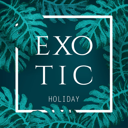 resort: Vector Illustration of Holiday Party Beach Resort for Design, Website, Background, Banner. Palm and tropical Plants Element Template. Sketch and Hand Drawn Style